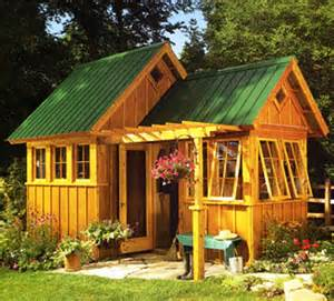 Garden Shed Ideas Sheds And Playhouses Tiny Green Cabins