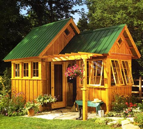 Sheds And Playhouses Tiny Green Cabins Garden Shed Design Ideas