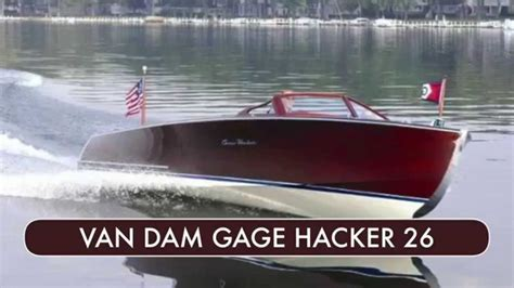 boat gages for sale 2007 van dam gage hacker 26 classic wooden runabout for