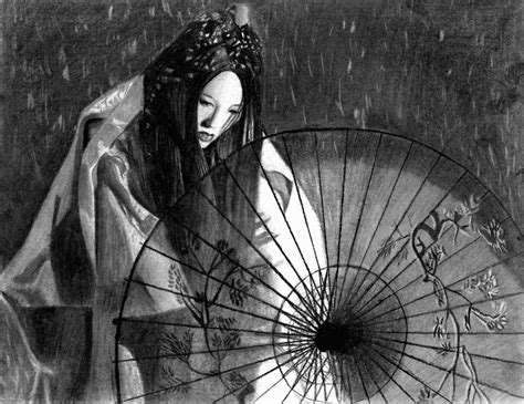 black and white japan wallpaper winter of a geisha by glaexeaus on deviantart