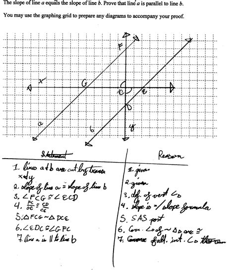 Proving Lines Parallel Worksheet Answers by Proving Slope Criterion For Parallel Lines Two