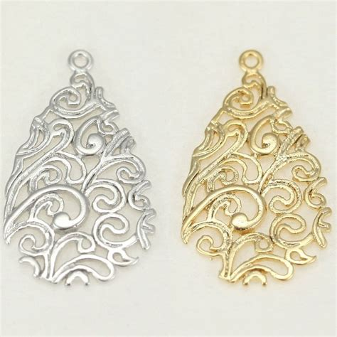 for jewelry filigree metal connector for earrings necklace