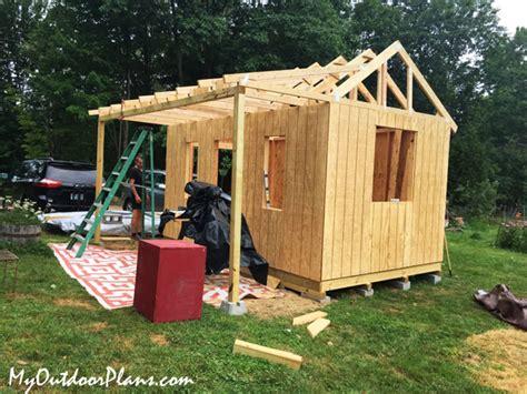 diy  shed  porch myoutdoorplans