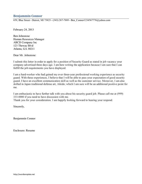 word template cover letter cover letter template for word my document