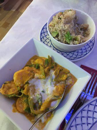 chicken green curry  steamed jasmine rice picture  georges inverness tripadvisor