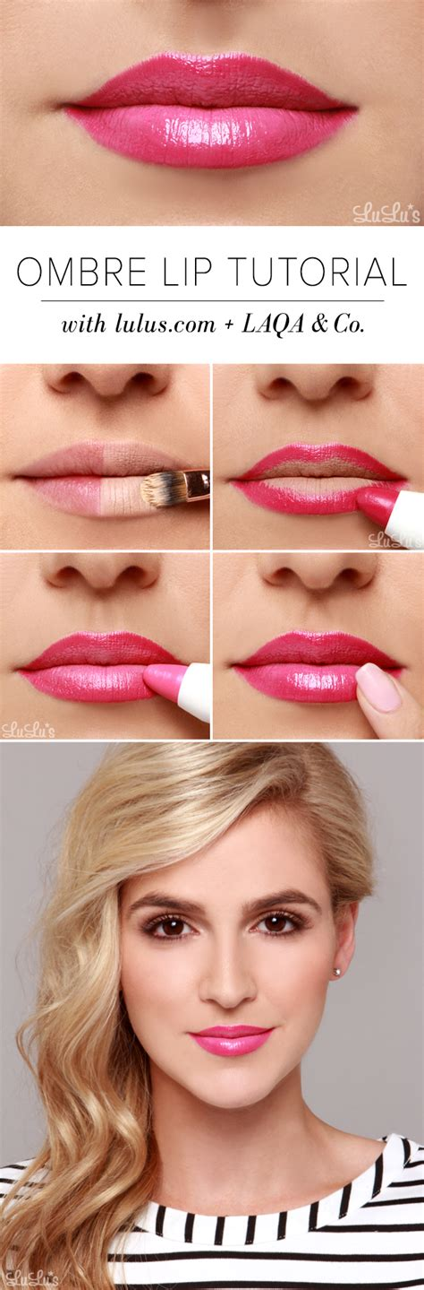 ombre lip tutorial lulus how to pink ombre lip tutorial lulus com fashion blog