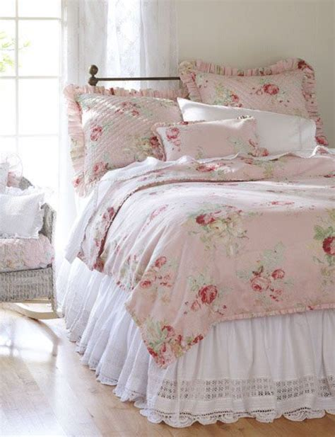 cottage bedding shabby pink bedding bedrooms pinterest