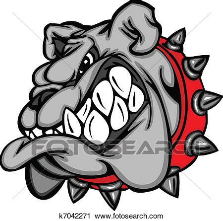clipart of bulldog mascot cartoon face k7042271 search