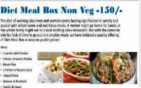 Diet Meal Box home cooked diet meal box non veg premium quality food