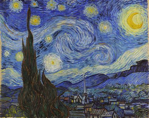 starry night marie dauenheimer s art and anatomy blog vincent van gogh