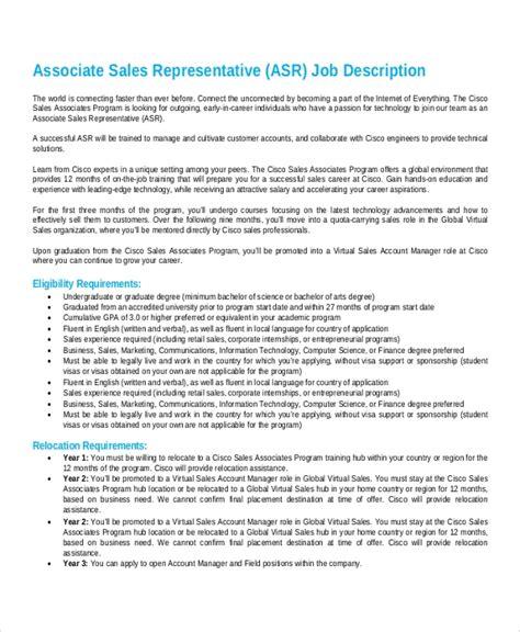 9 Sales Representative Job Description Sles Exles Sle Templates Sales Representative Description Template