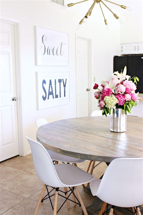 how to stain a dining room table how to stain a wood table a dining room update classy