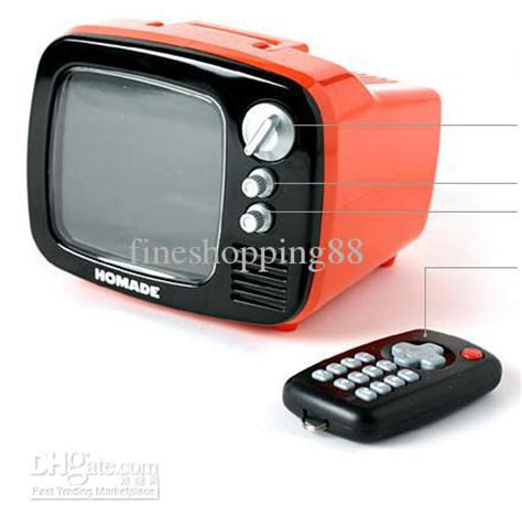 Tv Mini cheap new creative mini tv alarm clock with remote controller with cost by fineshopping88
