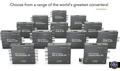 blackmagic workflow blackmagic design announces 3 new mini converters with 6g
