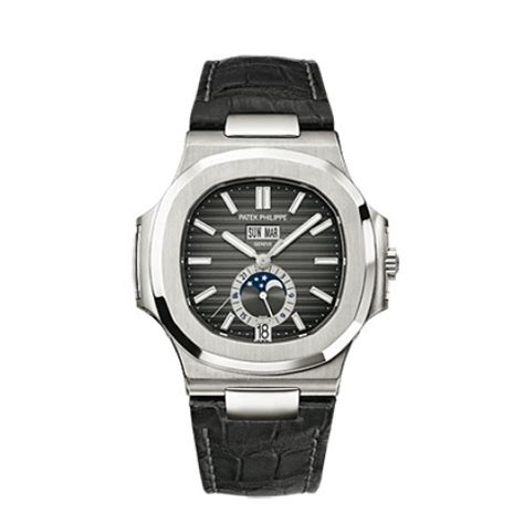 Jam Replika Patek Phillipe Nautilus Jumbo 5711 Black Swiss Eta 1 1 1 patek philippe nautilus automatic gmt moonphase black