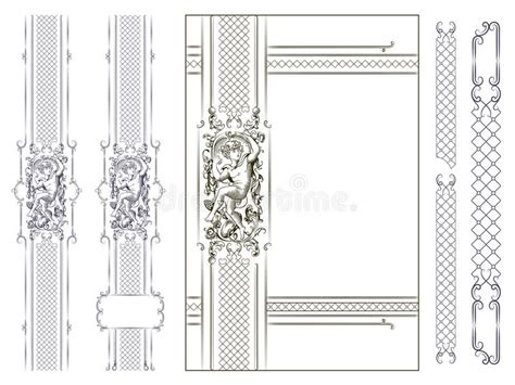vector luxury banner border royalty free stock photos luxury vector frame with border in rococo style stock