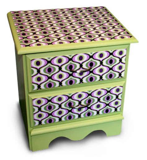 Decoupage Furniture With Fabric - how to decoupage fabric onto furniture how about orange
