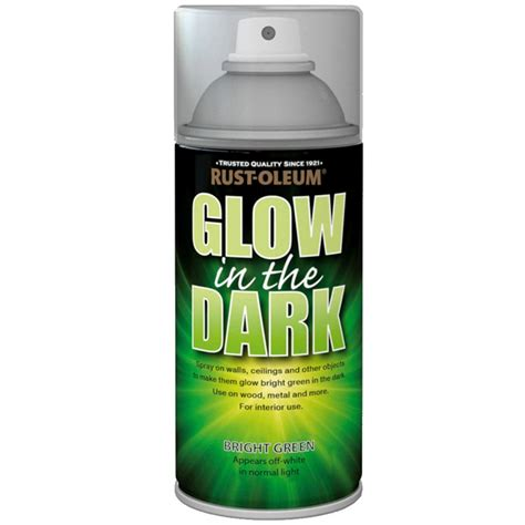 glow in the spray paint rust oleum glow in the bright green glowing aerosol