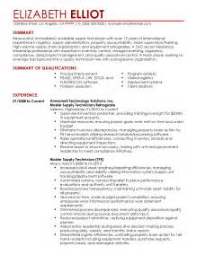 Supply Technician Sle Resume by Resume Logistics