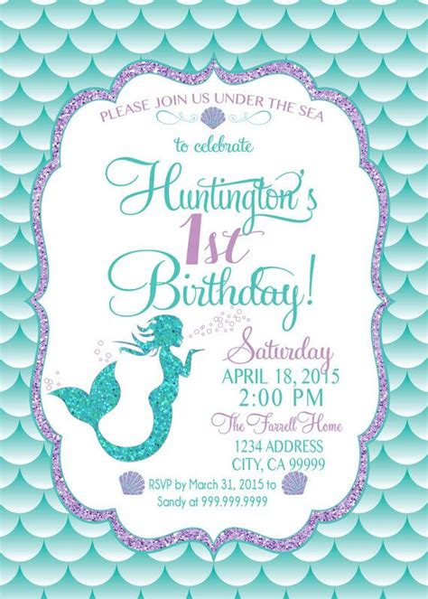 mermaid invitation template mermaid birthday invitation mermaid invite