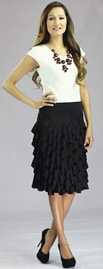18247 Diagonal Ruffle S Sale Skirt diagonal ruffle skirt in black