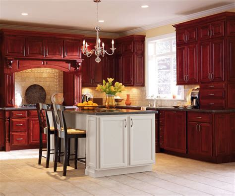 Cranberry Kitchen Cabinets Schrock Cabinetry Cherry Cranberry Traditional Kitchen By Bray Scarff