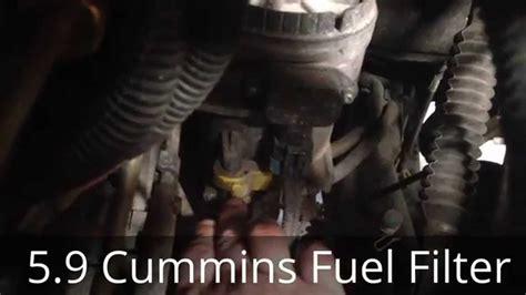 dodge ram diesel change cummins diesel fuel filter change 5 9 cummins dodge ram