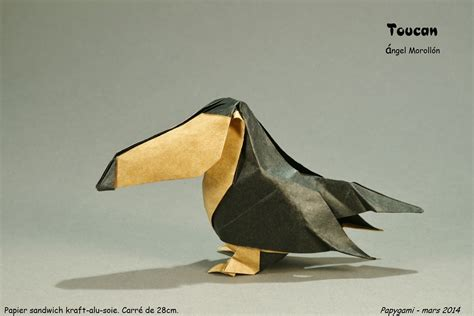 Origami Toucan - 25 beautiful origami birds 21 is especially impressive