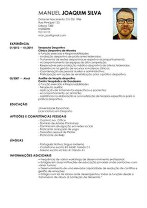 Modelo Curriculum Vitae Europeu Em Portugues Modelo De Curriculum Fisioterapeuta Exemplo De Cv Terapeuta Livecareer