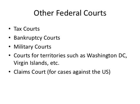 Federal Bankruptcy Court Records The Us Federal Court System Supreme Court