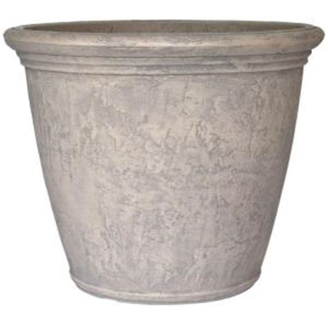 planters 24 in dove gray resin kiri planter