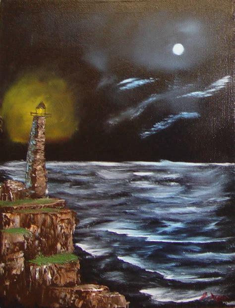 bob ross painting lighthouse lighthouse bob ross style by groudonman on deviantart