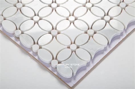 flower design floor tiles statuary white sun flower shaped marble mosaic tile buy
