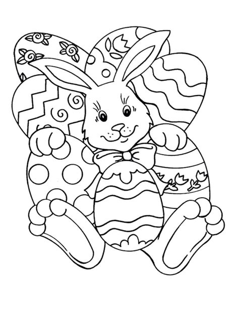 bunny coloring pages easy easy easter coloring pages bunny and eggs easter
