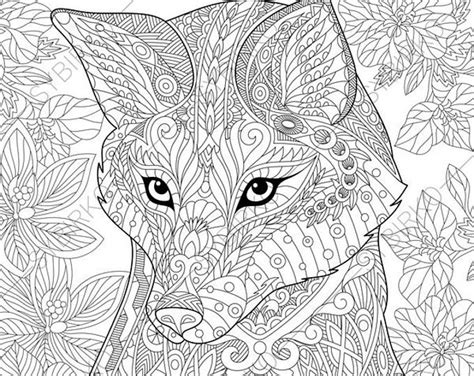 fox coloring book coloring pages fox zentangle doodle coloring book