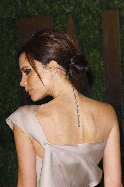 beckham new tattoo victoria 17 best images about victoria beckham tattoo on pinterest