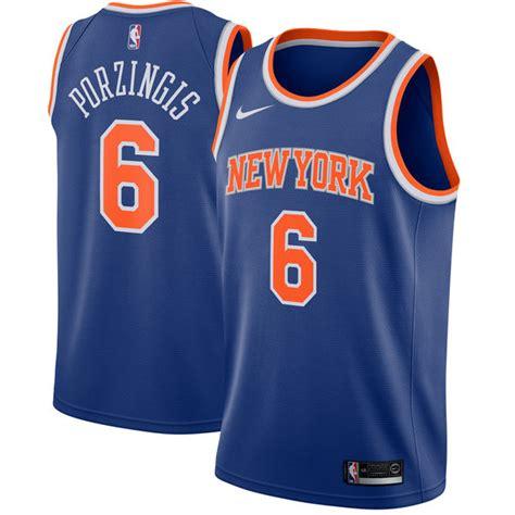 Jersey Basket Nba Gametime New York City Porzingis Putih kristaps porzingis new york knicks nike swingman jersey blue icon edition fanatics