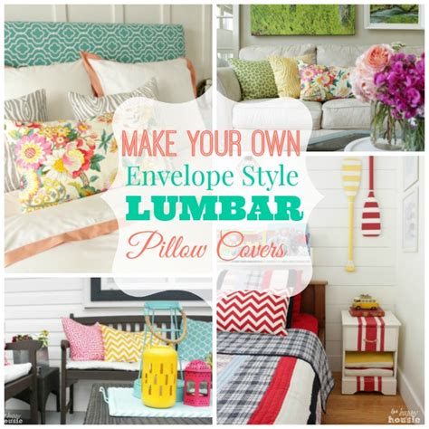 make your own slipcovers how to make diy envelope style lumbar pillow covers the