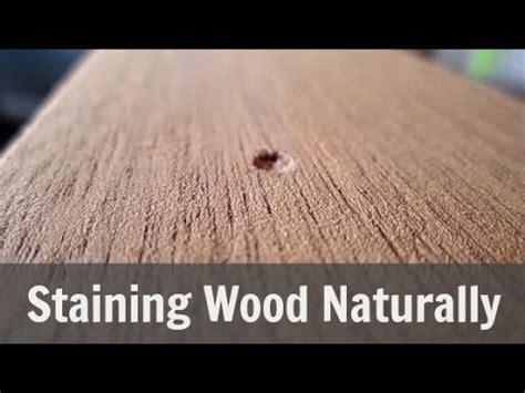 stain wood naturally with coconut
