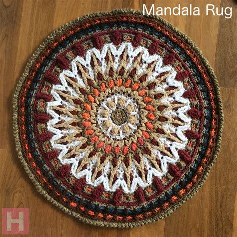 mandala rugs mandala rug overlay crochet ch0461 n a clearlyhelena