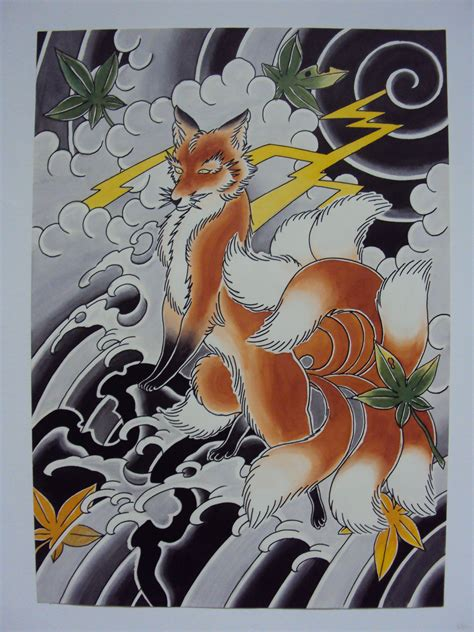 9 tailed fox tattoo nine tailed fox