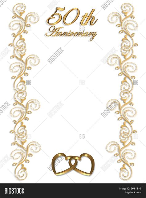 50th Anniversary Card Template by 50th Anniversary Template Stock Photo Stock Images