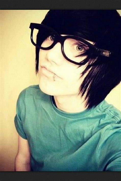 Emo Hairstyles With Glasses | ian with black hair and his glasses emo pinterest