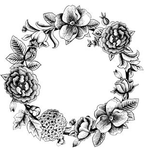 flower wreath coloring page best photos of wreath color pages of hand christmas