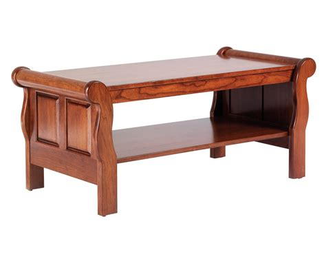Sleigh Coffee Table Amish Furniture Designed Sleigh Coffee Table