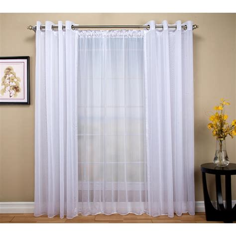 sheer rod pocket curtains lichtenberg sheer white no 918 millennial laguna sheer