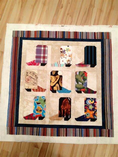 Cowboy Boot Quilt Pattern by Cowboy Boot Quilt Pattern Noelle O Designs