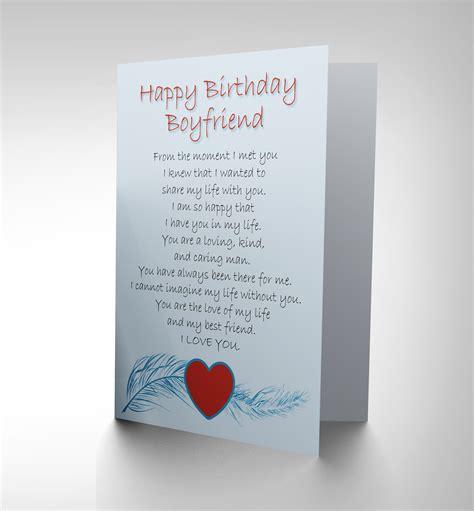 Poem For Gift Card - birthday boyfriend love poem new art greetings gift card cp1897 ebay
