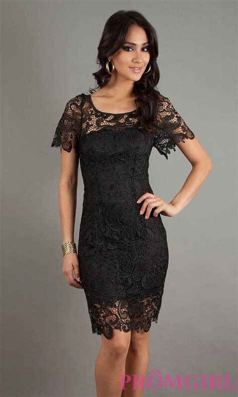 Black Lace Dress U335 black lace cocktail dresses with sleeves where is lulu