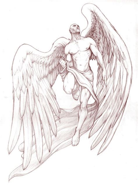 male angel tattoo designs best 25 ideas on